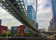 Zubururi bridge by Santiago Calatrava. Bilbao, Spain