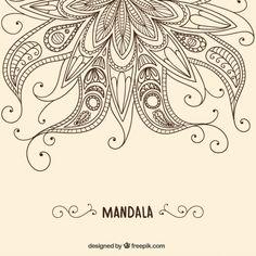 Henna background Free Vector