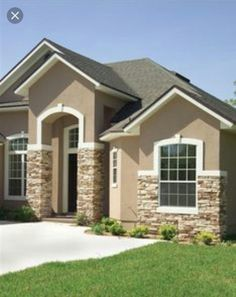 Stucco And Brick Exterior best exterior paint colors for small stucco home with orange tile