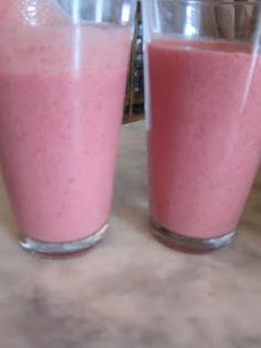 Breakfast Energy Shake: 1 peeled frozen banana or fresh 1 cup frozen raspberries, blackberries, blueberries or strawberries or fresh 3 ice cubes 2 Tbs. flax seeds 1/2 cup yogurt 1 Tbs. vanilla extract 1/4 cup water up to 2 Tbs. honey (optional, you don't always need it if the banana is sweet, so taste it without first)