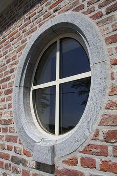 Window details, brick and stone