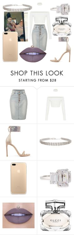 """""""dearra again again"""" by fashionxx1 ❤ liked on Polyvore featuring LE3NO, Stuart Weitzman, Humble Chic, Fantasia by DeSerio, Jeffree Star and Gucci"""