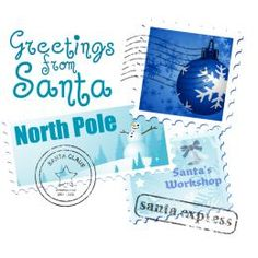 Free art and text to make personalized letters from Santa