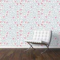 Adesivo de parede Floral Rana Pink