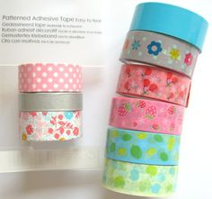 Wat kun je met washi-tape doen? Washi Tape, Masking Tape, Adhesive, Pattern, Action, Tape, Duct Tape, Group Action, Patterns