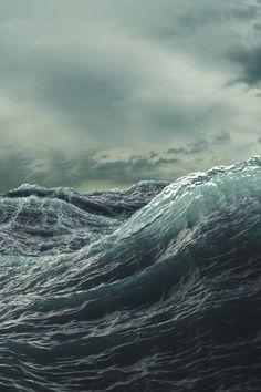 Die rauhe See. Ich liebe es, am Meer zu sein und dem Sturm zuzusehen, wie er mit den Wellen spielt ♡ The rough sea. I love to be by the sea watching the storm play with the waves ♡ Sea And Ocean, Ocean Beach, Sky Sea, No Wave, Stormy Sea, All Nature, Sea Waves, Am Meer, Pics Art