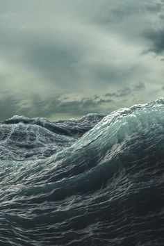 The power of the stormy ocean