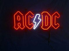 This is an incredible retro AC DC Band Music Neon Sign with full EGL neon, arguably the worlds very best neon glass. The sign is mounted to white composite with, AC DC Band Music Neon Sign Ac Dc Band, Marvel Tony Stark, Neon Licht, Avengers Pictures, Angus Young, Neon Lighting, I Love Music, New Wall, Music Bands