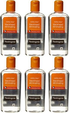 Neutrogena Visibly Clear Blackhead Eliminating Cleansing Lotion 200ml67 Oz Pack of 6 -- Click image to review more details.