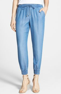 Time to sport some chambray track pants