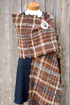 Handwoven wool shawl, wool shawl, handwoven wrap, wrap, handwoven scarf, Saori…