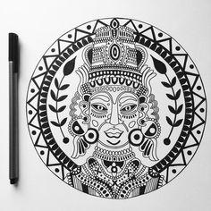 Original drawing for @yakshasounds logo 🌿🔊 - - -  #illustration #logo #design #soundsystem #dub #reggae #steppas #music #yaksha… Logo Design, Logos, Drawings, Music, Illustration, Cards, Instagram, Sketches, Musica