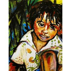 Innocent Child  Woodcarver's Son  Bahamas Tropical by leahreynolds, $10.50