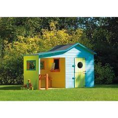 MAISONNETTE EXTÉRIEURE Cabane en bois enfant à peindre Hacienda 243x125x175 cm