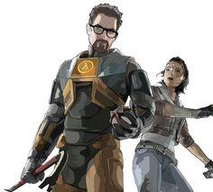 Gordon Freeman and Alyx Vance by ~Badtz08
