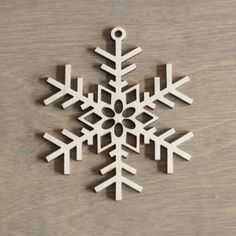 Wooden Snowflake 10 cm Christmas Decoration Laser by MemelCraft Wood Ornaments, Xmas Ornaments, Decoracion Navidad Diy, Deco Noel Nature, Wood Crafts, Diy And Crafts, Laser Cutter Projects, Wooden Snowflakes, Christmas Mood