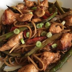Chickeny noodles with asparagus #goustocooking #gousto