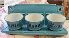 Antique German Laundry Set Enamelware by QuelJoliReve on Etsy, $145.00