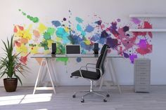 Watercolour Rainbow - Wall Mural & Photo Wallpaper - Photowall