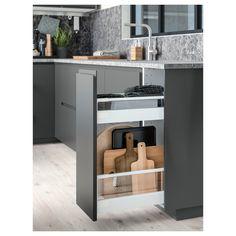 Ikea Kitchen Design, Modern Kitchen Design, Home Decor Kitchen, Interior Design Kitchen, Kitchen Furniture, Ikea Kitchen Storage Cabinets, White Ikea Kitchen, Small Modern Kitchens, Kitchen Grey