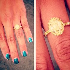 Fancy yellow micro-pave diamond ring
