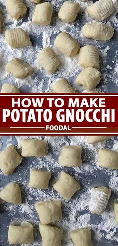 How to Make Potato Gnocchi at Home - Are you ready for the ultimate homemade comfort food? Try making potato gnocchi from scratch! Potato Gnocchi Recipe, Gnocchi Recipes, Making Gnocchi, How To Make Potatoes, Homemade Pasta, Homemade Dinners, Homemade Food, Vegan Comfort Food, Chicken Alfredo
