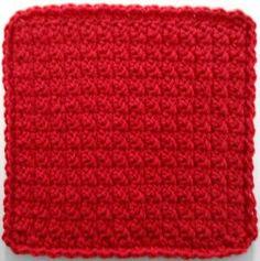 Best Free Crochet » #358 Basic Red Dishcloth – Maggie Weldon Maggies Crochet