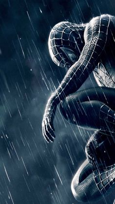 Spiderman 3 Black And Blue Mobile HD Wallpaper - Vactual Papers