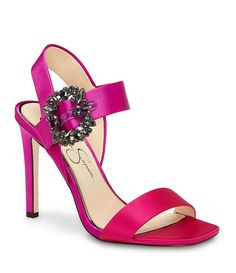 Passion Pink:Jessica Simpson Bindy Jeweled Buckle Dress Sandals