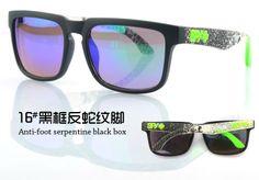 Occhiale da Sole Lenti a Specchio Specchiati Policarbonato Polycarbonate Spy+ Ken Block Helm Sunglasses da Uomo Donna Ragazzo Ragazza Unisex Abbigliamento hip hop Rap Rapper B-Boy e Fly Girl