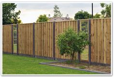 Fences in the garden are very important nowadays. The natural protection … - Innen Garten - Eng Backyard Fences, Garden Fencing, Fence Design, Garden Design, Types Of Fences, Natural Fence, Modern Fence, Garden Inspiration, Landscape Design