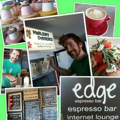 Lovin'the vibe at Edge espresso bar on the Esplanade Caloundra Say G'day to Miles! Espresso Bar, Bacon, Places, People, Desserts, Food, Tailgate Desserts, Deserts, Essen