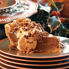 YOU ARE KIDDING: This decadent slice of pumpkin pie has just 125 calories. YES, PLEASE! | via @FitBottomedGirl #food #thanksgiving #dessert #recipe