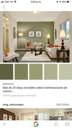 😉👏🏻💙 – küche Organizing - New Sites Living Room Green, Interior Design Living Room, Living Room Designs, Living Room Decor, Bedroom Decor, Interior Colors, Living Room Color Schemes, Paint Colors For Living Room, Paint Colors For Home