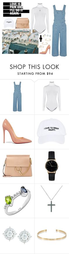 """""""Untitled #466"""" by fashionlover-1995 ❤ liked on Polyvore featuring Current/Elliott, Wolford, Christian Louboutin, Nasaseasons, Chloé, Freedom To Exist, Anastazio, Mémoire, Ileana Makri and modern"""