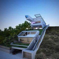 Cliff House by Wix user & Architect Katerina Likopoulou Architecture Design, Creative Architecture, Sustainable Architecture, Amazing Architecture, Home Building Design, Building A House, Building Map, Villa Design, Modern House Design