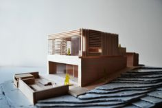 Architectural model of a single familiy house in Drøbak, Norway. Built with Cross Laminated Timber / CLT