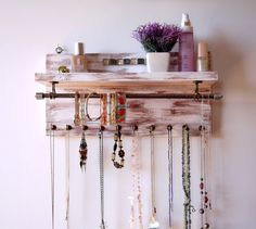 Jewelry organizer. Necklace display. wall by FineArtHolders