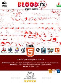 Blood Sprite FX for Games #3 - Sprites Game Assets