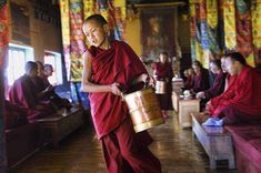 """Photo by @alisonwrightphoto // Tea time at Disket Monastery in the Nubra Valley Ladakh northern India.  This image is featured in my book """"Face to Face: Portraits of the Human Spirit."""" For more information visit http://alisonwright.com. ..... #alisonwright #portrait #facetoface #teatime #tea #monastery #monk #india #northernindia #natgeo #natgeotravel #natgeocreative by natgeotravel"""