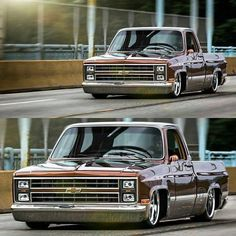 You could get this thing stick in a pothole 87 Chevy Truck, Classic Chevy Trucks, Chevy Pickups, Chevy Silverado, Chevrolet Trucks, Bagged Trucks, Lowered Trucks, Dually Trucks, Pickup Trucks