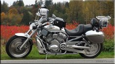 Harley Davidson Vrod Motorcycle. We've been enjoying the Fall riding season and have posted more pictures at http://www.vridetv.com/blog.html