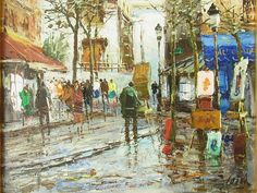 Paris Montmartre Street Scene signed Cein Ecole de : Lot 43