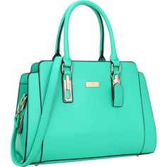 Dasein Medium Satchel - Green - Satchels (2.450 RUB) ❤ liked on Polyvore featuring bags, handbags, green, faux leather purses, green satchel handbag, faux leather satchel, vegan handbags and vegan leather purses