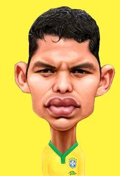 THIAGO SILVA – Caricaturas para o pôster da Seleção Brasileira