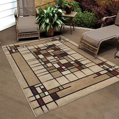 RUGS AREA RUGS OUTDOOR RUGS INDOOR OUTDOOR RUGS OUTDOOR CARPET 8x10 RUG  LARGE ~~