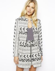 ASOS Jacket in Mixed Jacquard