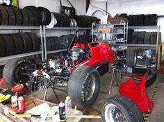 The tires are organized nicely. Organized Garage, Garage Organization, Antique Cars, Antiques, Vintage Cars, Antiquities, Antique, Shed Organization