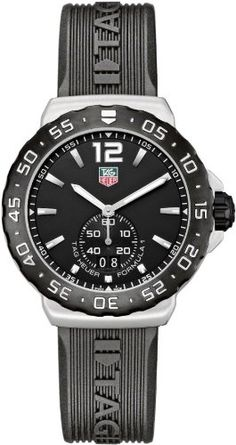 TAG Heuer Men's WAU1110.FT6024 Formula 1 Black Dial Black Rubber Strap Watch -   #Over$500Men, #TagHeuer-Men - http://www.uzume.net/tag-heuer-mens-wau1110-ft6024-formula-1-black-dial-black-rubber-strap-watch/