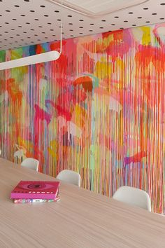 Dou you want to change color on the walls? Get decorative wall painting ideas and creative design tips to colour your interior home walls Clare Cousins, Wall Decor, Room Decor, Drip Painting, Neon Painting, Painting Studio, Mural Painting, Drip Art, Wall Paintings